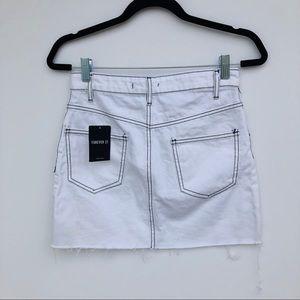 Forever 21 Skirts - NWT Forever 21 Contrast Stitch Denim Skirt
